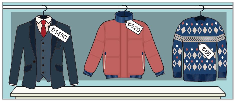 Giysi fiyatları
