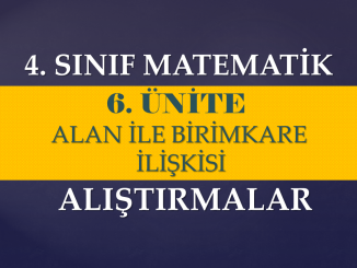 Alan ve birimkare