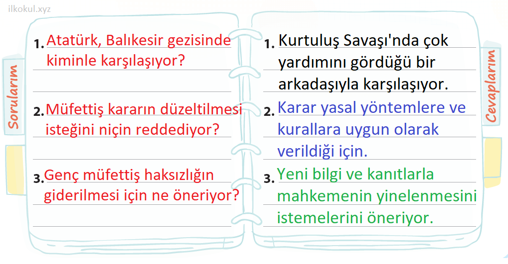 3 soru 3 cevap